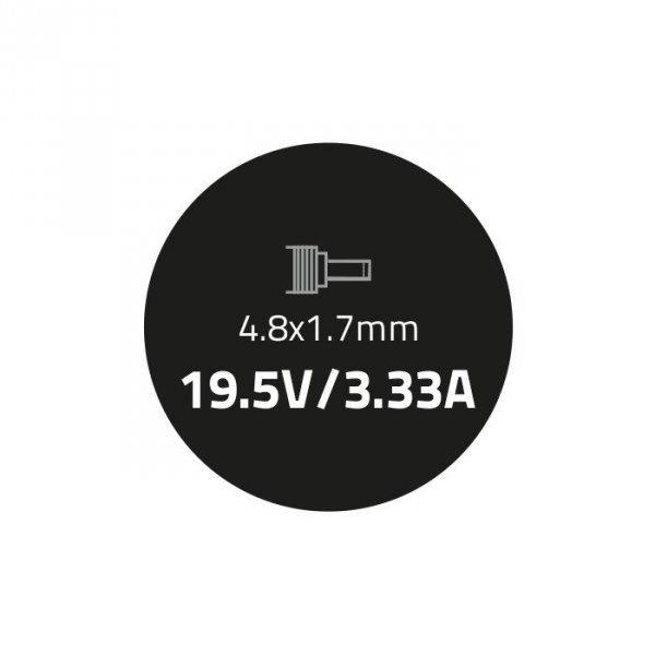 Qoltec Zasilacz do HP Compaq 65W | 19.5V | 3.33A | 4.8*1.7