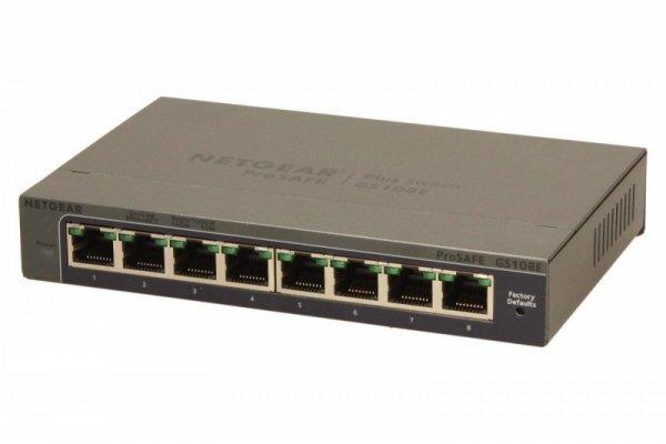 Netgear Switch Unmanaged Plus 8xGE - GS108E