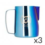Barista Space - Dzbanek do mleka niebieski / kolorowy 600 ml - zestaw 3 sztuki