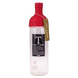 Hario butelka z filtrem Cold Brew Tea - czerwona 750 ml