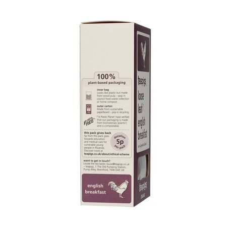 teapigs English Breakfast Organic - herbata sypana 100g