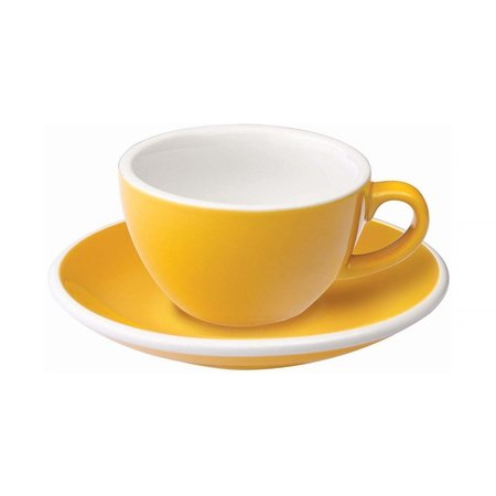 Loveramics Egg - Filiżanka i spodek Flat White 150 ml - Yellow