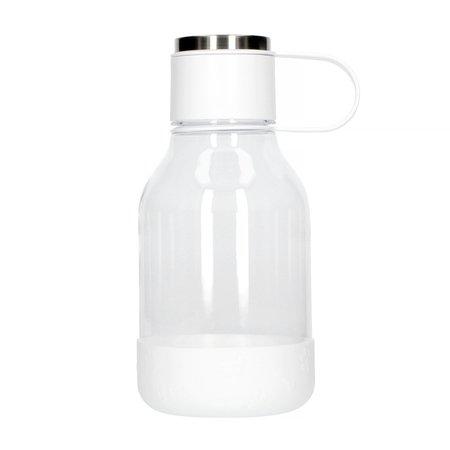 Asobu - Dog Bowl Bottle Tritan Biała - Butelka z miską dla psa 1,5L