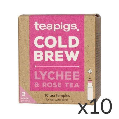 teapigs Lychee & Rose - Cold Brew 10 piramidek - zestaw 10 sztuk