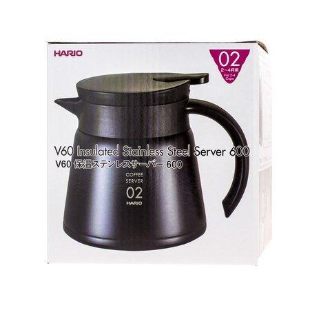 Hario Insulated Stainless Steel Server V60-02 Czarny - 600ml
