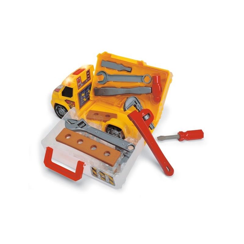 DICKIE Construction Samochód z narzędziami Światło Dźwięk