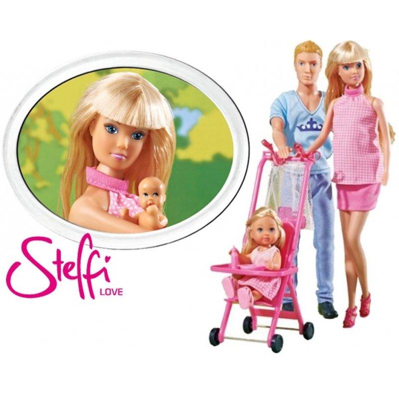Simba Lalka Steffi w Ciąży Rodzina Kevin z Dzieckiem