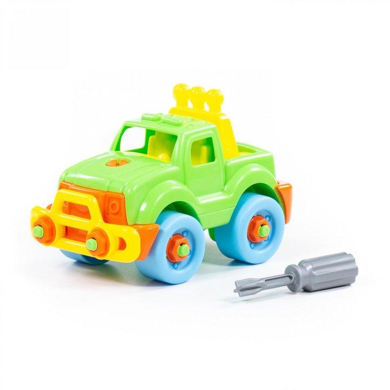 Wader QT Kolorowy Samochód Jeep Ze Śrubokrętem