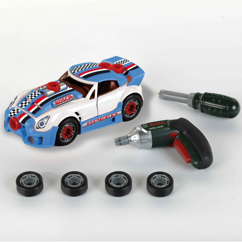 Klein Zestaw Auto do tuningu 2w1 z wkrętarką Ixolino na licencji Bosch