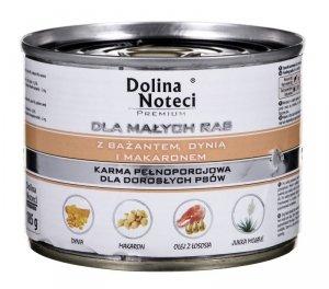 Karma DOLINA NOTECI Premium Małe Rasy Bażant Dynia Makaron (0,18 kg )