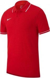 Koszulka męska Nike Polo Team Club 19 SS czerwona A