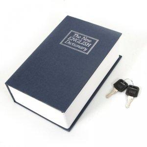 Sejf książka IBOX ISNK-05BLUE (115mm x 180mm x 55 mm)