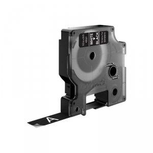 Taśma Do drukarek DYMO D1 12 mm x 7 m biały/czarny (12mm )