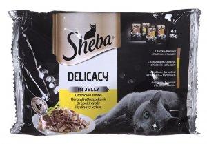 Sheba Del. in Jelly Smaki Drobiowe 4x85g