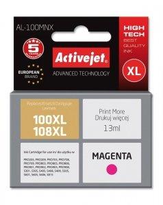 Tusz Activejet AL-100MNX (zamiennik Lexmark 100XL/108XL 14N1070E; Supreme; 13 ml; czerwony)