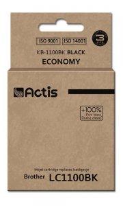Tusz ACTIS KB-1100Bk (zamiennik Brother LC1100BK/980BK; Standard; 28 ml; czarny)