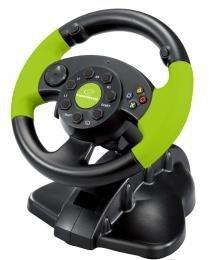 Kierownica Esperanza EG104 (PC, Xbox 360; kolor czarno-zielony)