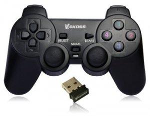 Gamepad bezprzewodowy VAKOSS GP-3925BK (PC, PS3; kolor czarny)