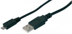 DIGITUS KABEL POŁĄCZENIOWY USB 2.0 HIGHSPEED TYP USB A/MICROUSB B M/M CZARNY 1.8M AK-300110-018-S