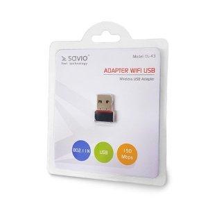 Karta WiFi SAVIO CL-43 (USB 2.0)