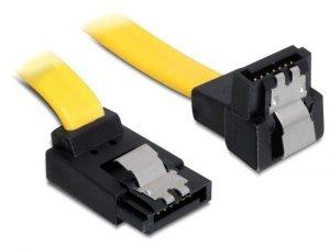 Kabel DELOCK 82821 (SATA - SATA ; 0,50m; kolor żółty)