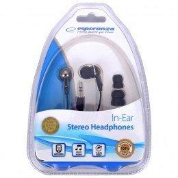 Słuchawki Esperanza EH125 (dokanałowe; NIE; kolor czarny