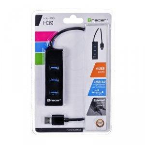 Hub Tracer H39 TRAPOD45895 (4x USB 3.0; kolor czarny)