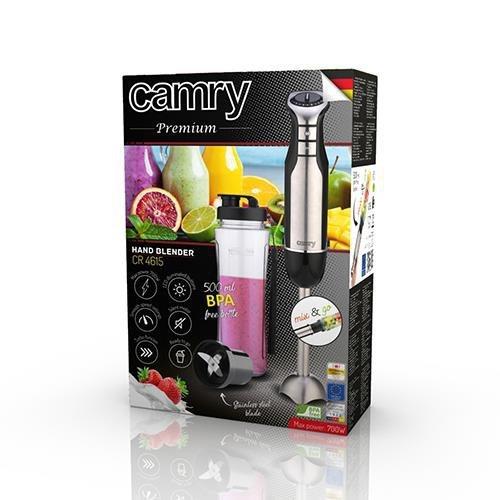 Camry CR 4615 Blender immersyjny Czarny, Stal nierdzewna 700 W