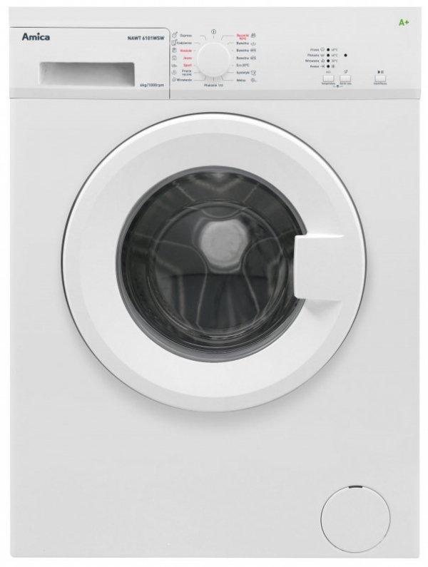 Pralka Amica NAWT6101WSW (1000 obr/min; 6 kg; 501 mm; Klasa A+; kolor biały)