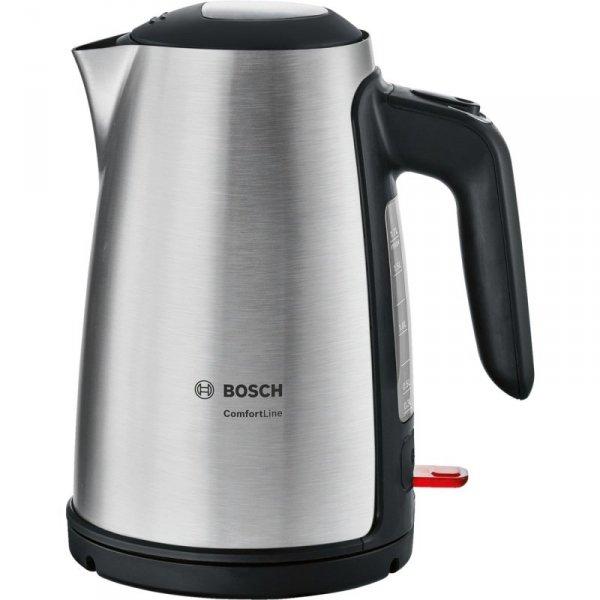 Bosch TWK6A813 czajnik elektryczny 1,7 l 2400 W Czarny, Stal nierdzewna