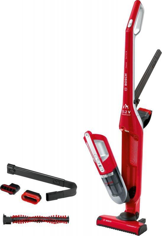 Bosch Serie 4 BBH3ZOO25 okurzacz na kiju/szczotka elektryczna Bez worka Czerwony 0,4 L