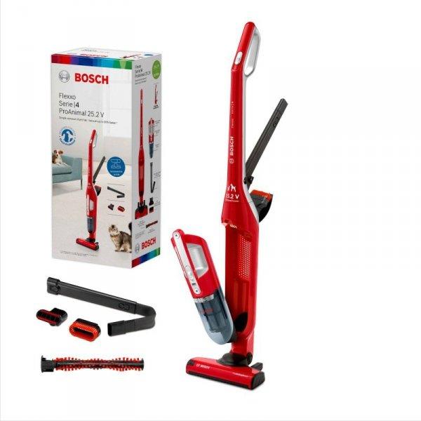Odkurzacz bezprzewodowy BOSCH FLEXXO BBH3ZOO25 (kolor czerwony)
