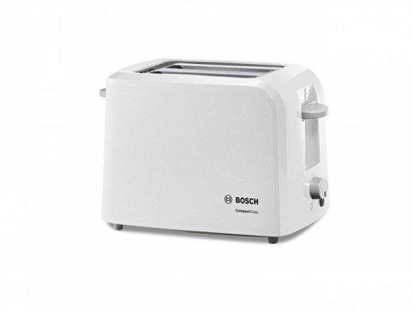 Toster BOSCH CompactClass TAT3A011 (980W; kolor biały)