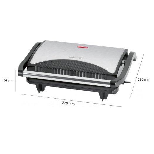 Grill elektryczny Clatronic MG 3519 (700W stołowy-zamykany, czarno-srebrny)