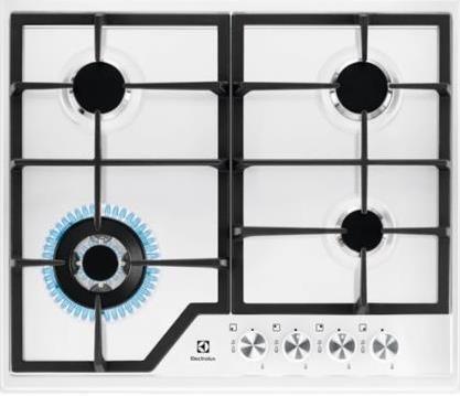 Electrolux EGS6436WW płyta kuchenna Biały Wbudowany Gaz 4 zone(s)