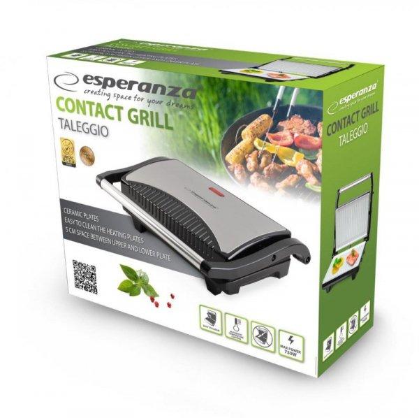 Esperanza EKG006 Grill elektryczny 750W Inox/Czarny