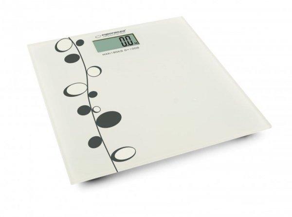 Esperanza EBS005 waga Elektroniczna waga osobista Prostokąt Biały