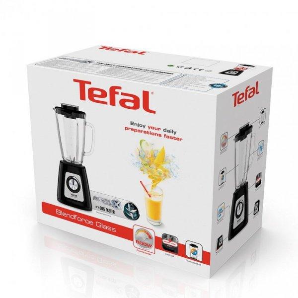 Tefal BlendForce II BL4358 blender 1,25 L Blender stołowy Czarny, Stal szczotkowana 800 W