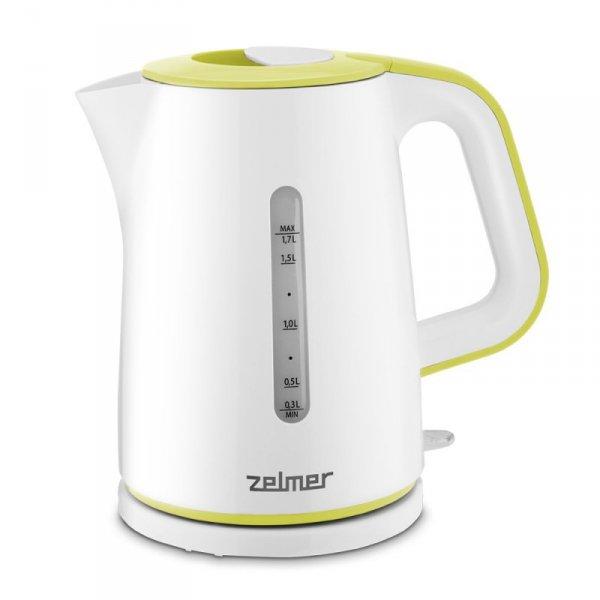 Zelmer ZCK7620G czajnik elektryczny 1,7 l 2000 W Biały, Żółty