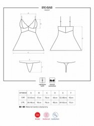 Bielizna-810-BAB-2 babydoll i stringi biała  S/M