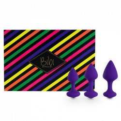Korki analne - FeelzToys Bibi Butt Plug Set 3 szt Purple
