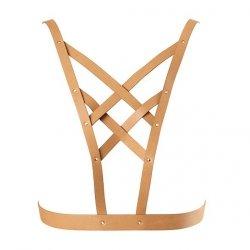 Uprząż - Bijoux Indiscrets Maze Net Cleavage Harness Brown