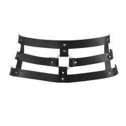 Pas skórzany - Bijoux Indiscrets Maze Wide Belt Black