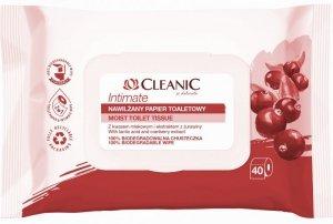 Cleanic Intimate Nawilżany Papier toaletowy  1op.-40szt
