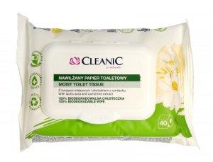 Cleanic Papier toaletowy nawilżany z ekstraktem z rumianku 1op.-40szt