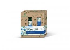 Farmona Zestaw prezentowy Herbal Care Kwiat Lnu (Szampon do włosów 330ml +Odżywka do włosów 200ml)