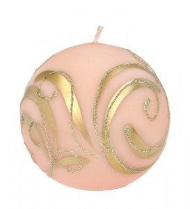 ARTMAN Boże Narodzenie Świeca ozdobna Bombka rose gold - kula mała 1szt