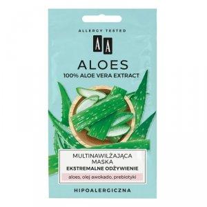 AA Aloes 100% Multinawilżająca Maska na twarz- ekstremalne odżywienie  4mlx2