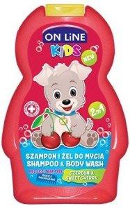 On Line Kids Szampon 2w1 Czereśnia  250ml