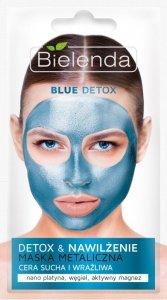 Bielenda Blue Detox Maska Metaliczna nawilżająca - cera sucha i wrażliwa  8g